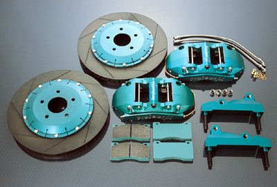 Project Mu Front 6 Piston Racing Brake Kit 350z 03