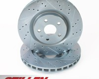 Z33 - Stillen 1pc Front Cross Drilled & Slotted Rotors