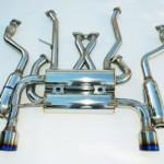 Invidia Gemini Catback Exhaust Rolled Titanium Tips Infiniti G37