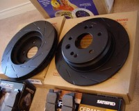 S13 - EBC Ultimax Slotted Front Rotor 5Lug