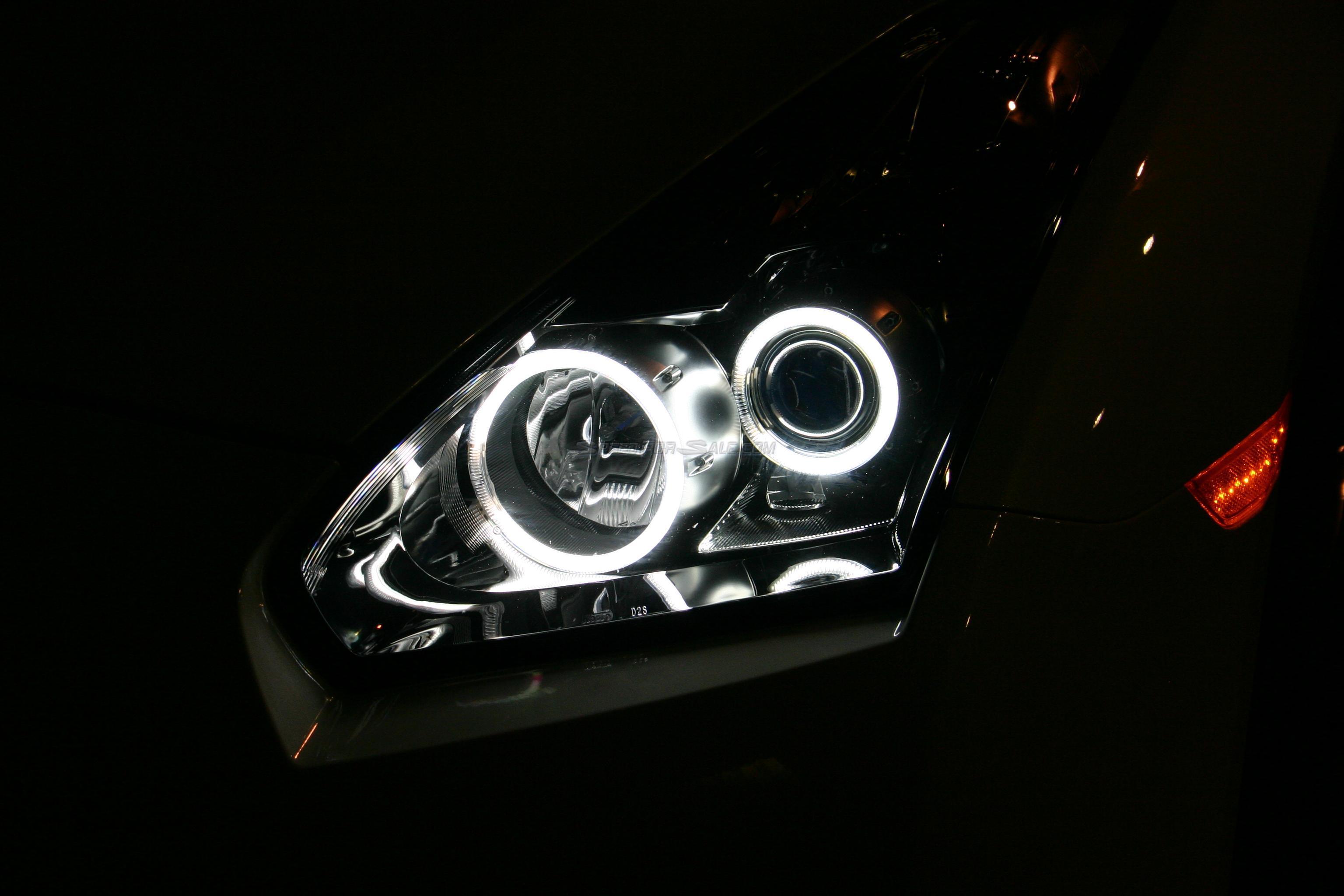 MCR Angel Eye Headlights Nissan GT-R R35 09+