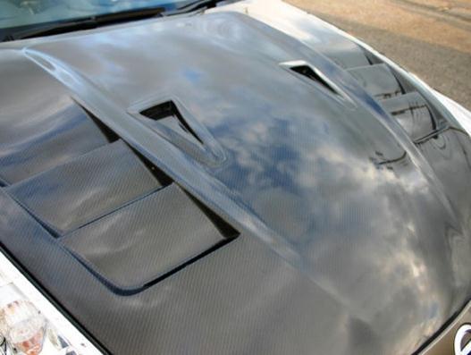 Top Secret FRP Vented Hood Nissan 370z 09a