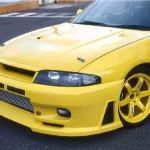 JUN Front Bumper Spoiler Nissan Skyline GTR BCNR33a