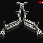 ARK GRIP True Dual Exhaust System Burnt Tip Infiniti G37 Coupe 08-12a