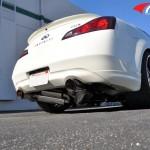 ARK GRIP True Dual Exhaust System Burnt Tip Infiniti G37 Coupe 08-12d