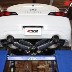 ARK GRIP True Dual Exhaust System Burnt Tip Infiniti G37 Coupe 08-12e