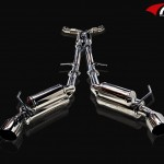 ARK GRIP True Dual Exhaust System Polished Tip Infiniti G37 Coupe 08-12a