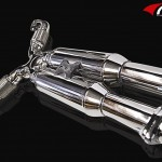 ARK GRIP True Dual Exhaust System Polished Tip Infiniti G37 Coupe 08-12b