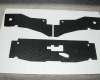 PowerTrix Carbon Fiber 3pc Radiator Air Guide Set