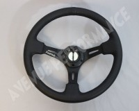 AVENUE STEERING WHEEL - Black Leather Black Spokes