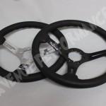 AVENUE STEERING WHEEL - Black Leather Chrome Spokes1