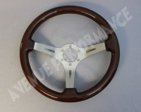 Steering Wheel - Woodgrain Aluminum Brushed Spokes