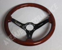 AVENUE STEERING WHEELS - Woodgrain Black Spokes