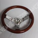 AVENUE STEERING WHEELS - Woodgrain Chrome Spokes