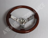Steering Wheels - Woodgrain Chrome Spokes