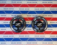 Datsun 240Z Late Side Pillar Emblems NOS OEM at The Z Shop